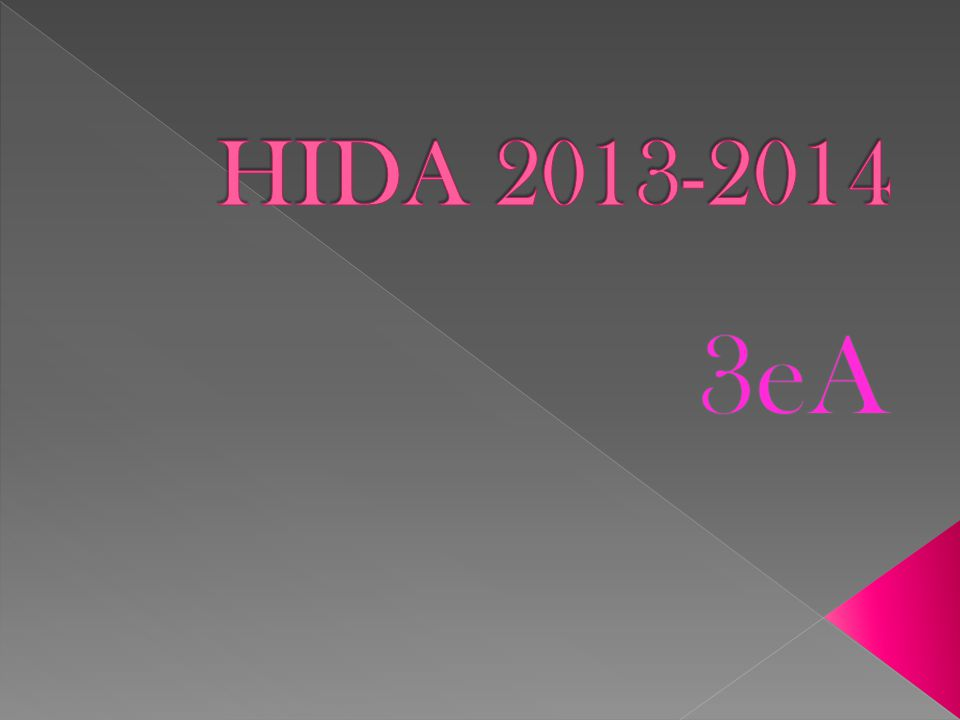 HIDA 2013-2014 3eA