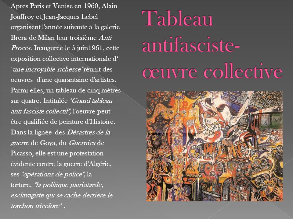 Tableau antifasciste- œuvre collective