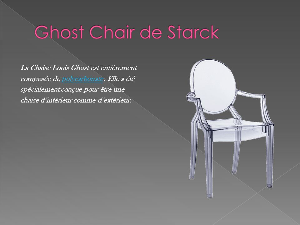 Ghost Chair de Starck