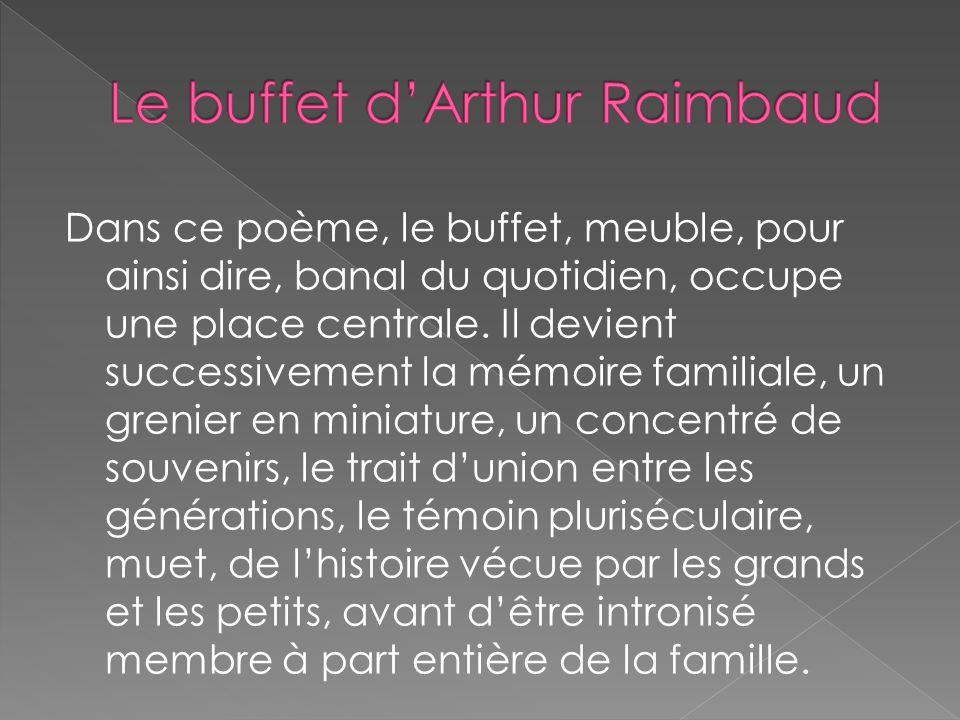 Le buffet d'Arthur Raimbaud