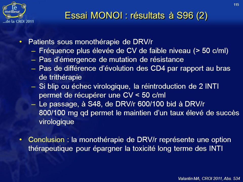 Essai MONOI : résultats à S96 (2)