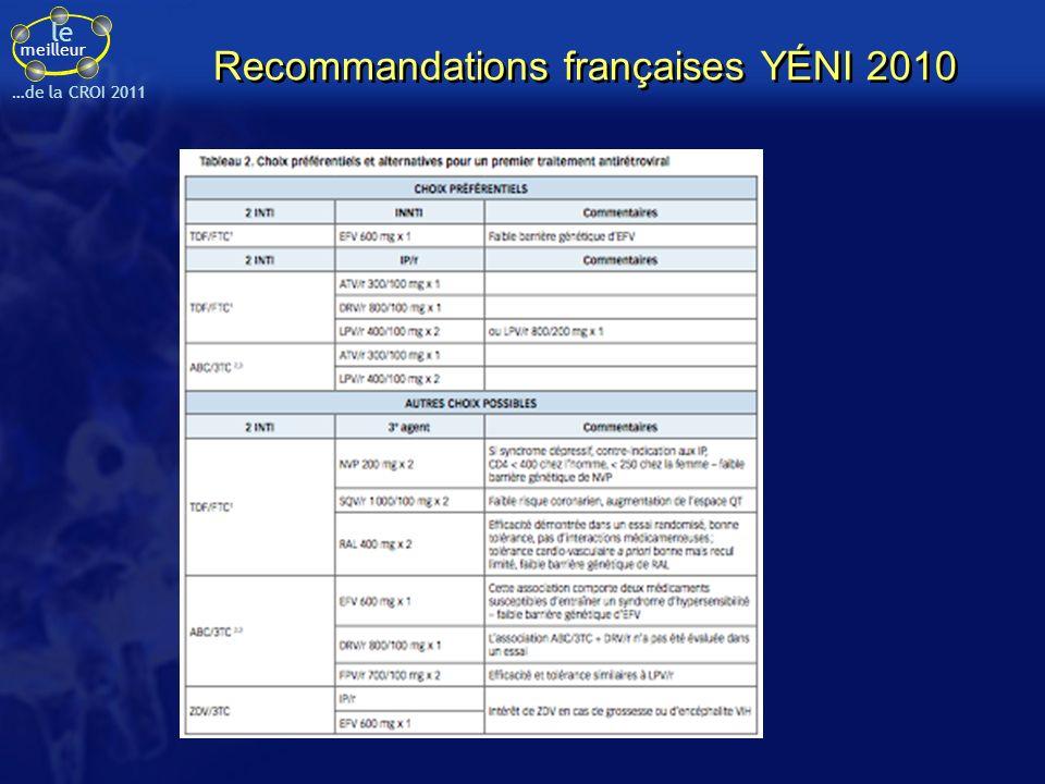 Recommandations françaises YÉNI 2010