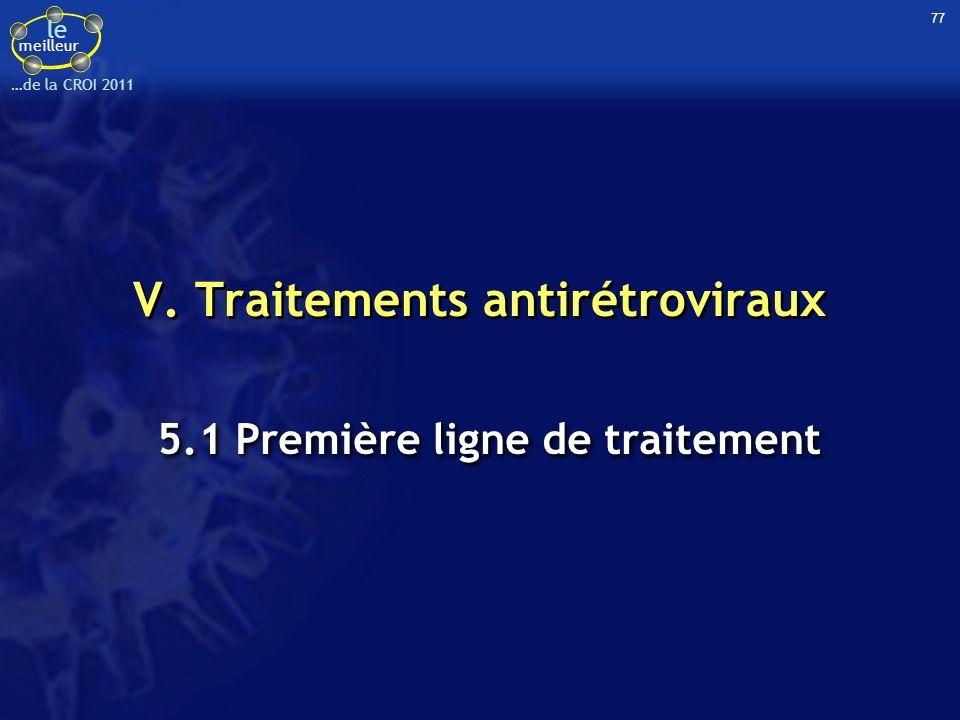 V. Traitements antirétroviraux