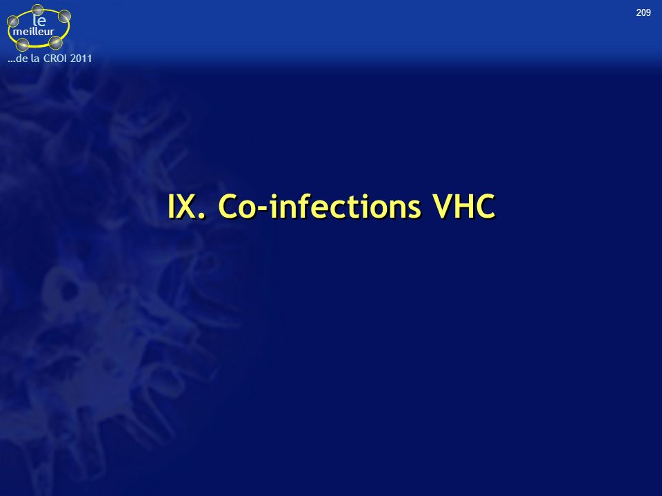 209 IX. Co-infections VHC 41