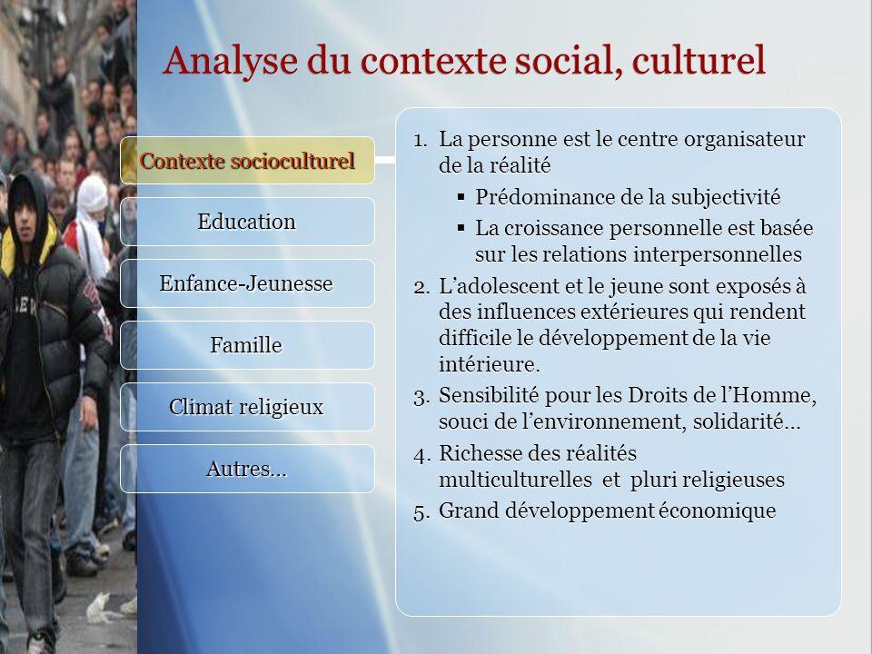 Contexte socioculturel