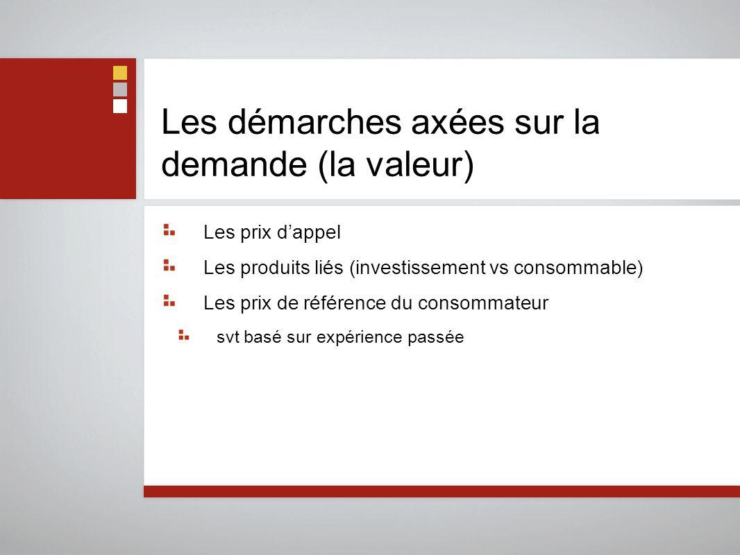 Les démarches axées sur la demande (la valeur)