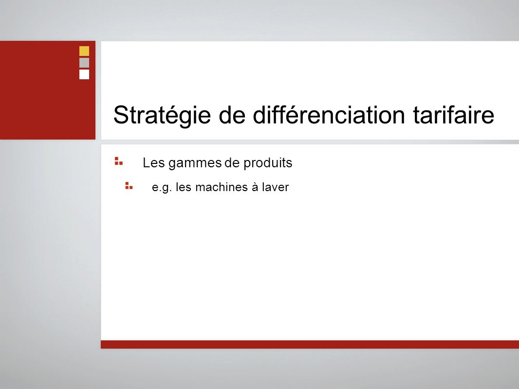 Stratégie de différenciation tarifaire