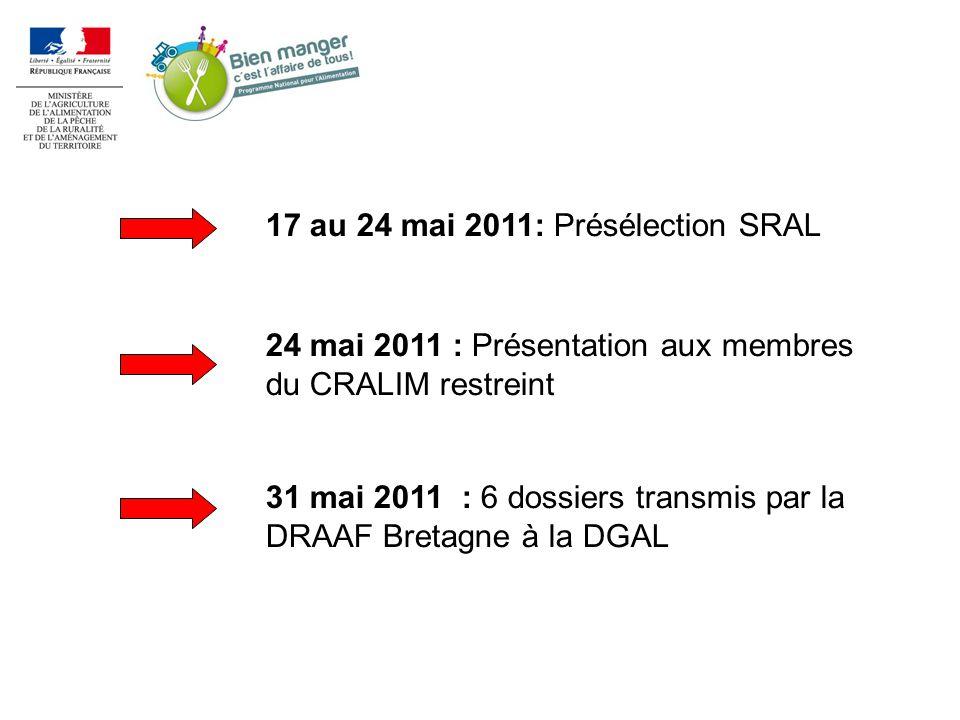17 au 24 mai 2011: Présélection SRAL