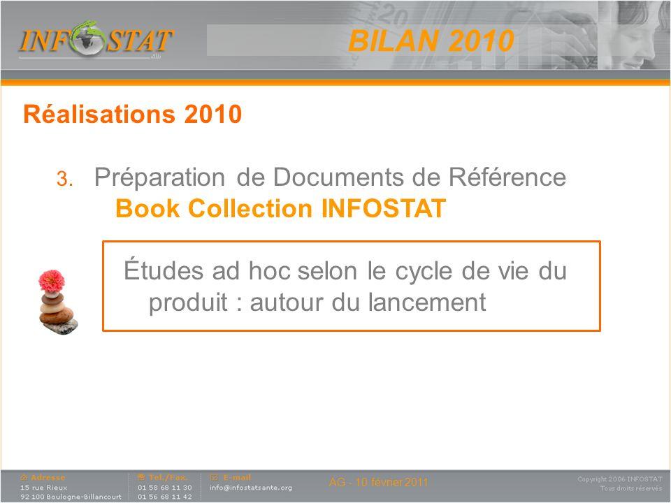 BILAN 2010 Réalisations 2010 Préparation de Documents de Référence