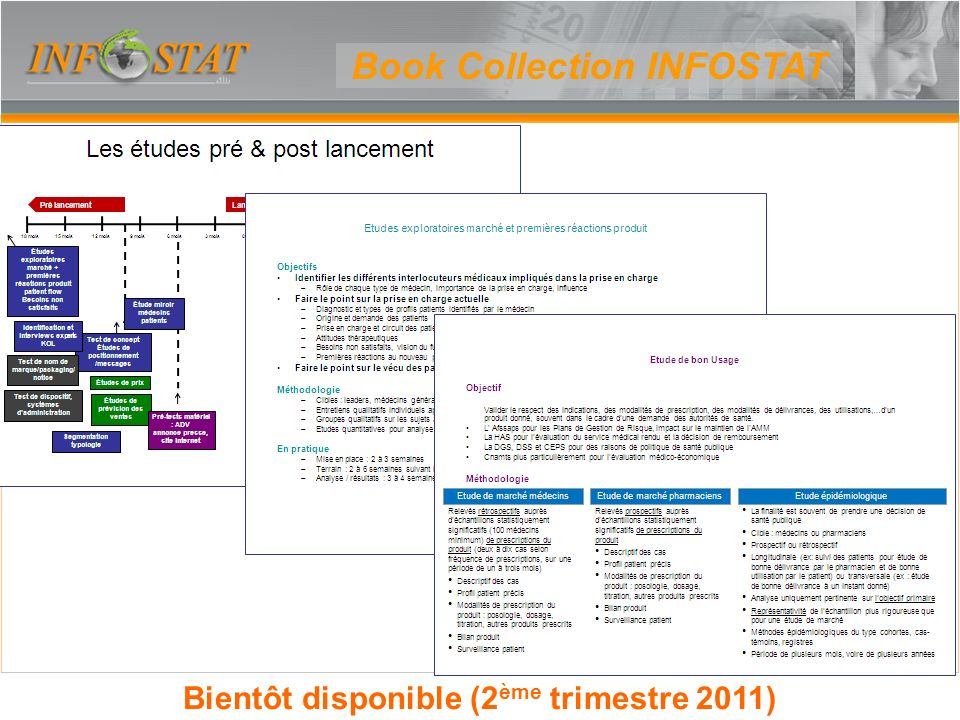 Book Collection INFOSTAT Bientôt disponible (2ème trimestre 2011)