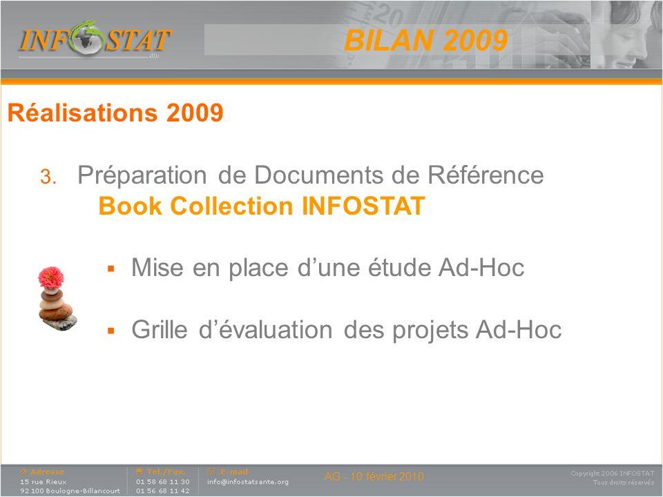 BILAN 2009 Réalisations 2009 Préparation de Documents de Référence
