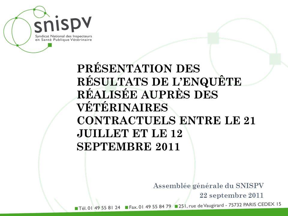 Assemblée générale du SNISPV 22 septembre 2011