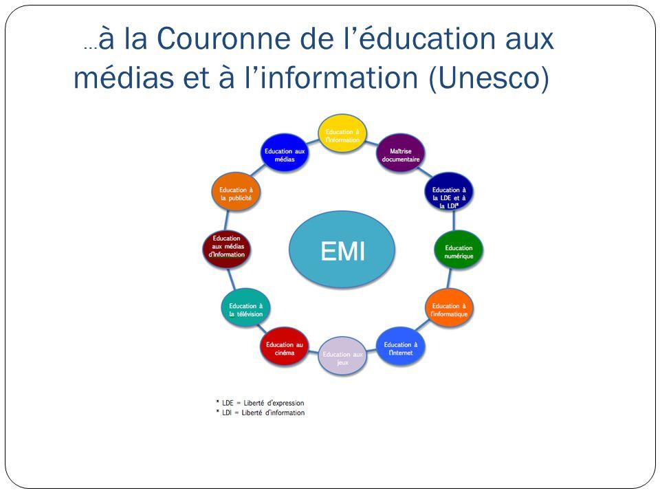 …à la Couronne de l'éducation aux médias et à l'information (Unesco)