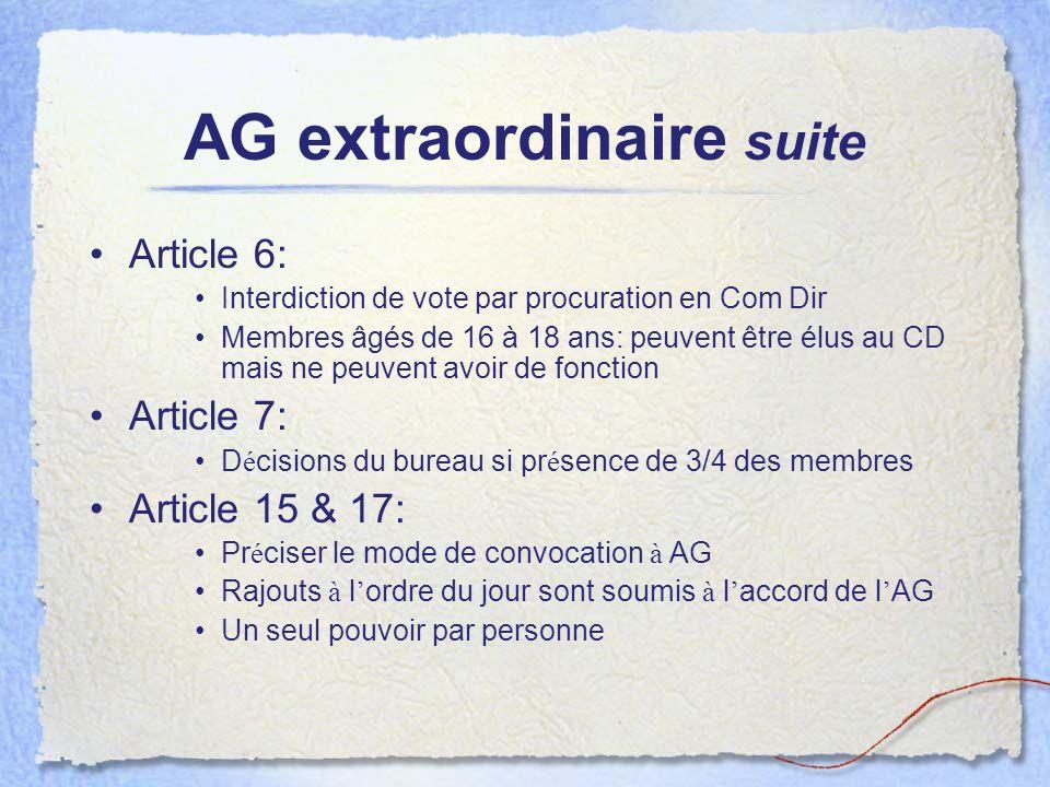 AG extraordinaire suite