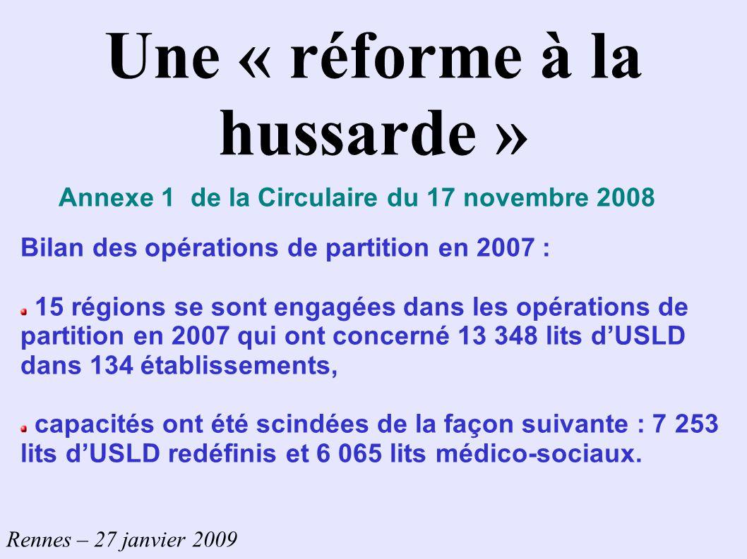 Une « réforme à la hussarde »