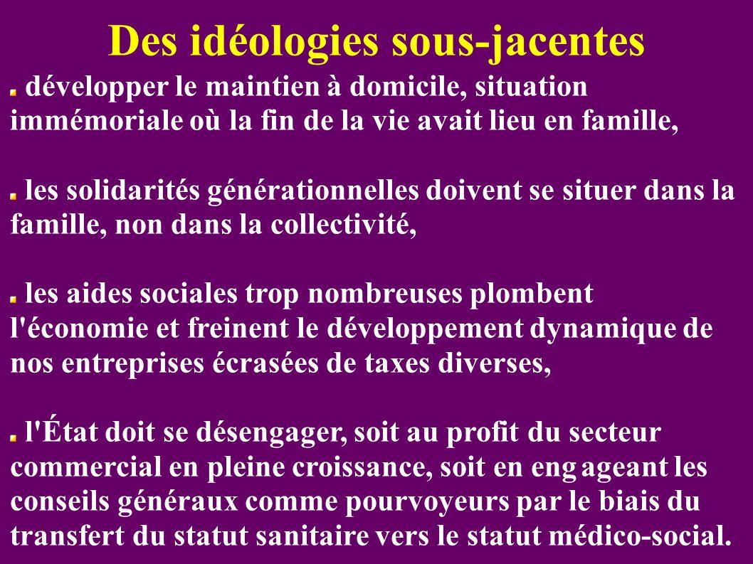 Des idéologies sous-jacentes