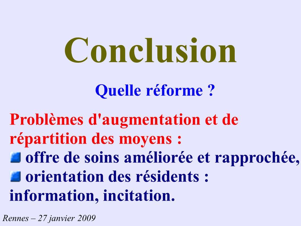 Conclusion Quelle réforme