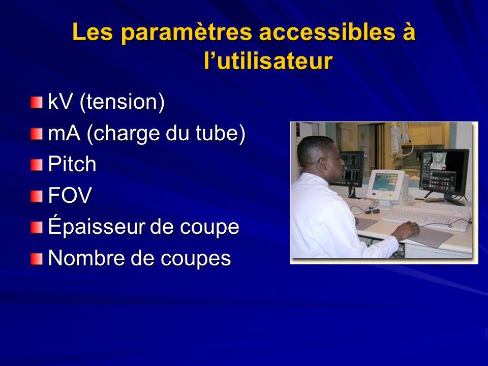 Les paramètres accessibles à l'utilisateur