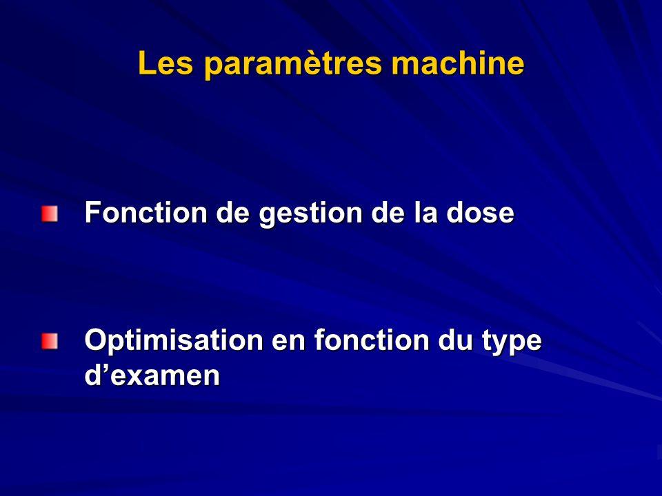 Les paramètres machine