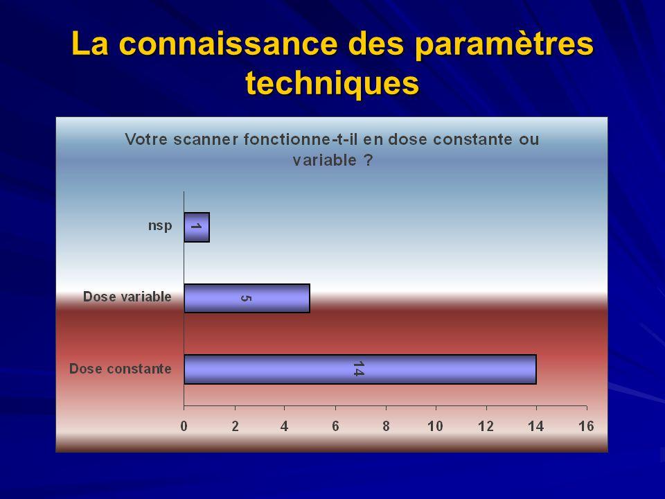 La connaissance des paramètres techniques