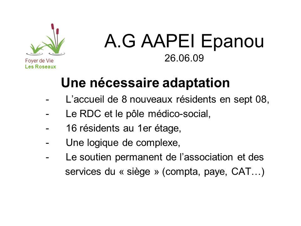 A.G AAPEI Epanou 26.06.09 Une nécessaire adaptation