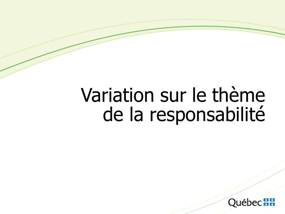 Variation sur le thème de la responsabilité