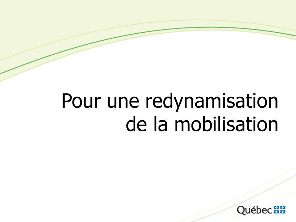 Pour une redynamisation de la mobilisation
