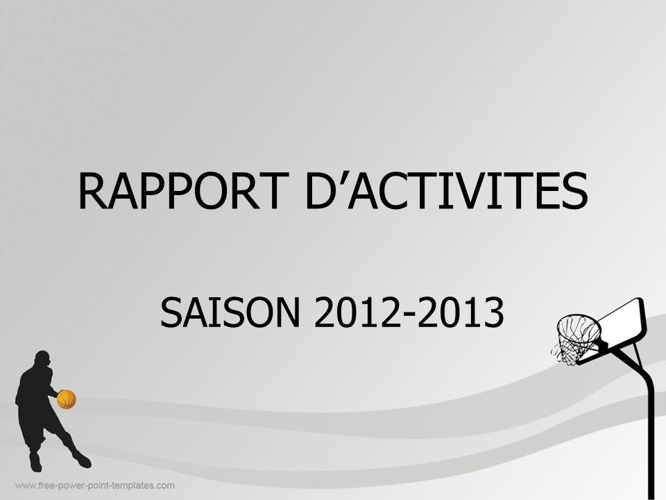 RAPPORT D'ACTIVITES SAISON 2012-2013
