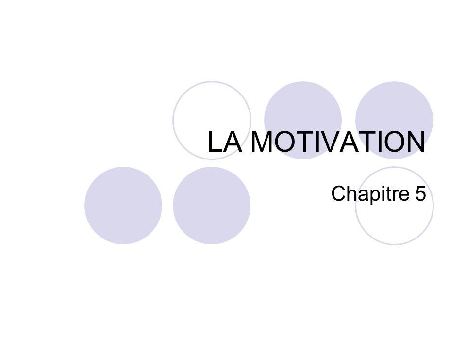 LA MOTIVATION Chapitre 5