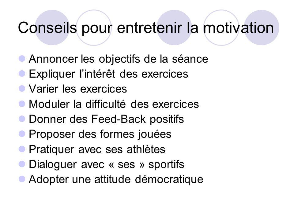Conseils pour entretenir la motivation