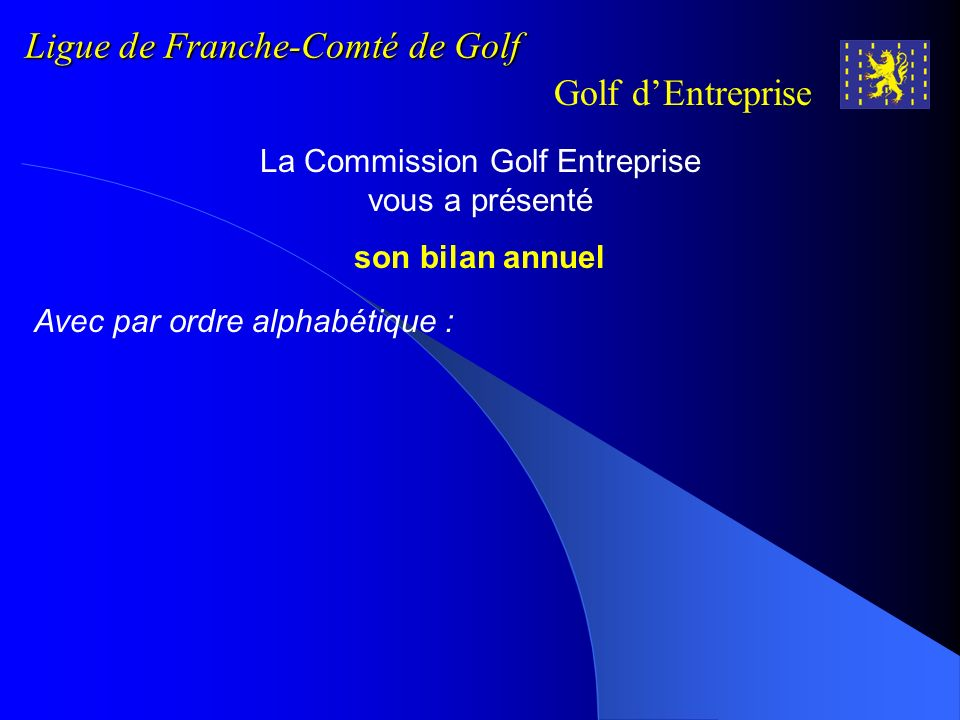 Ligue de Franche-Comté de Golf
