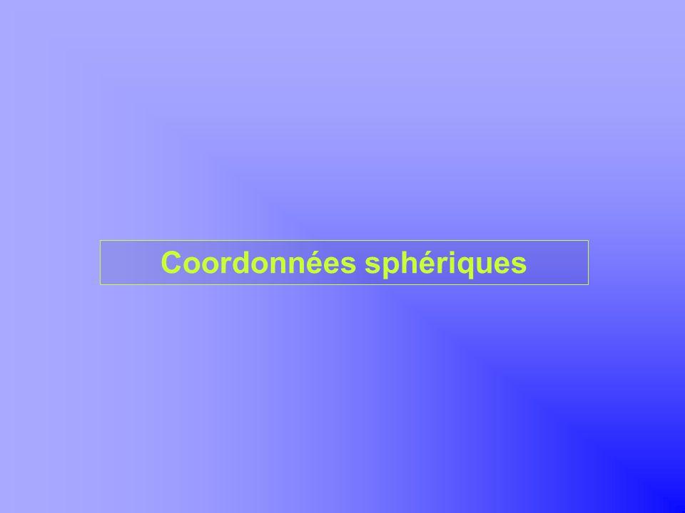 Coordonnées sphériques