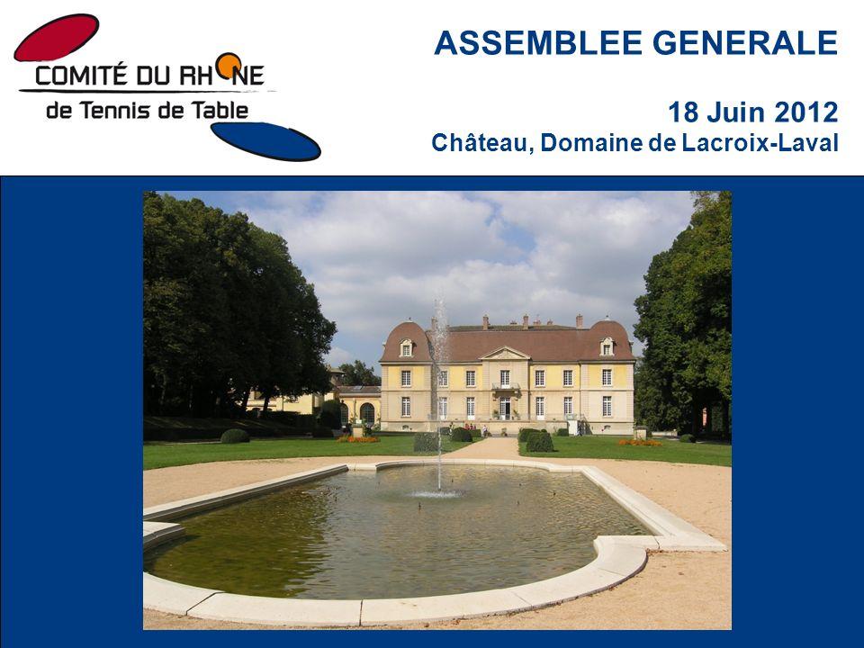 ASSEMBLEE GENERALE 18 Juin 2012 Château, Domaine de Lacroix-Laval