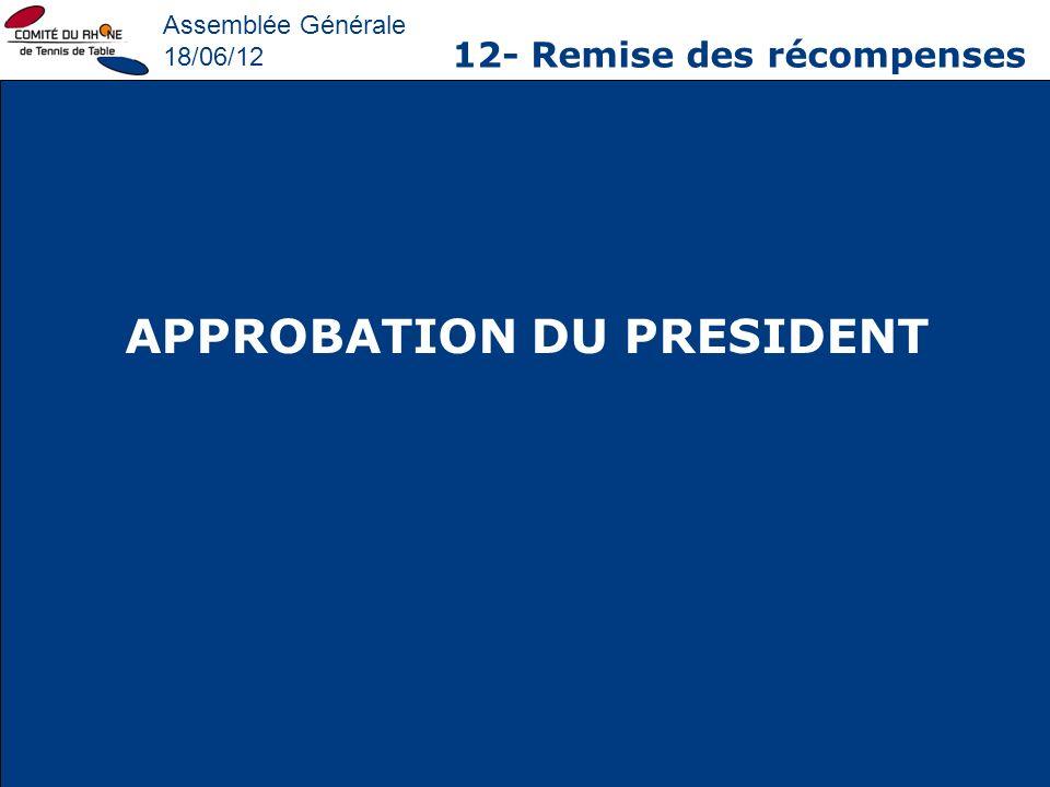 APPROBATION DU PRESIDENT