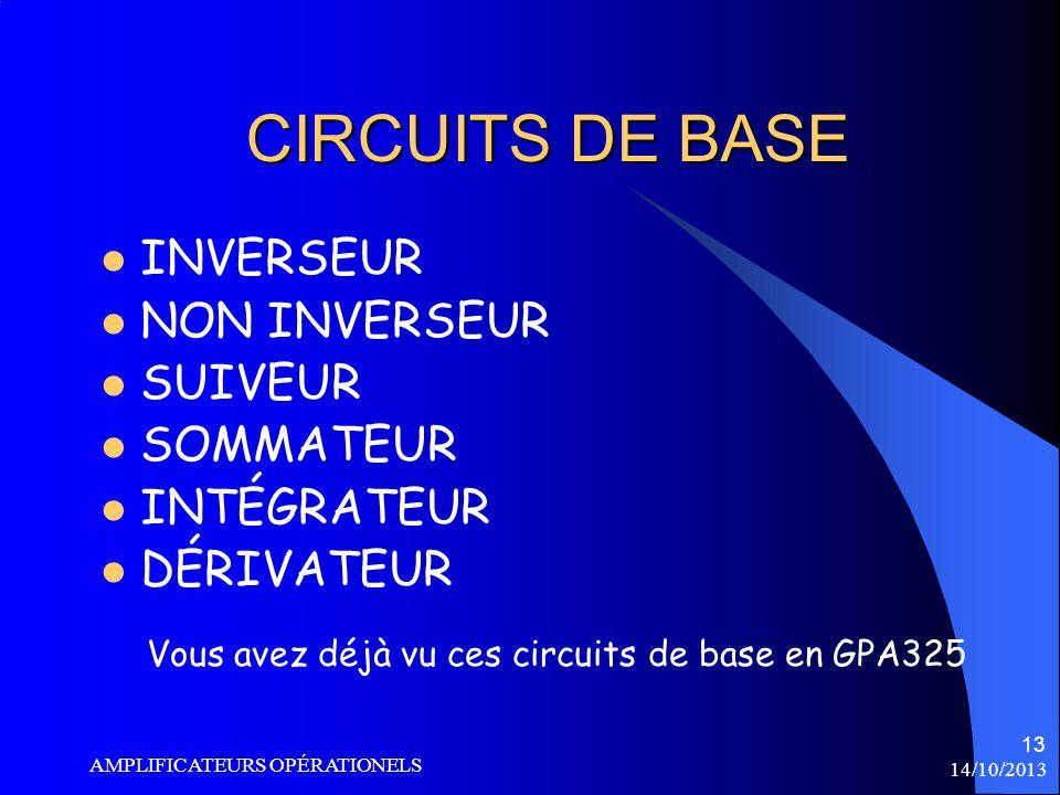 Vous avez déjà vu ces circuits de base en GPA325