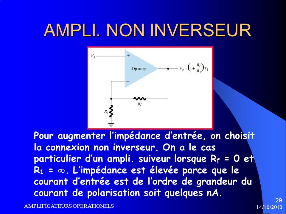 AMPLI. NON INVERSEUR