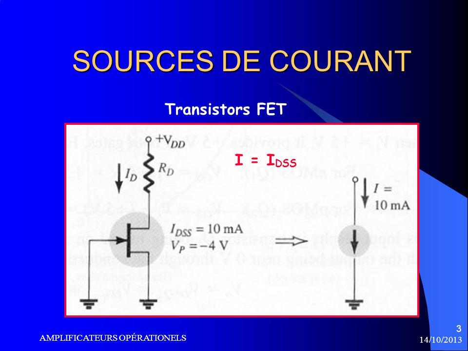 SOURCES DE COURANT Transistors FET I = IDSS