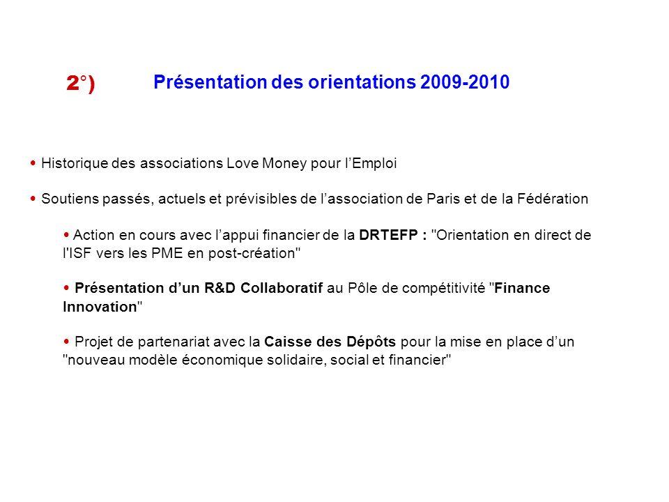 Présentation des orientations 2009-2010