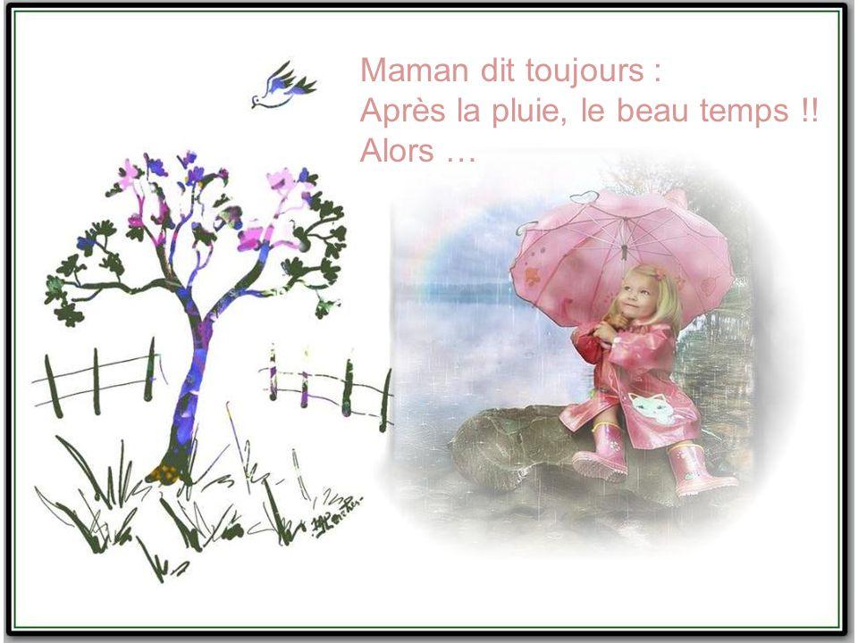 Maman dit toujours : Après la pluie, le beau temps !! Alors …