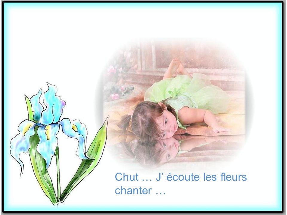 Chut … J' écoute les fleurs chanter …