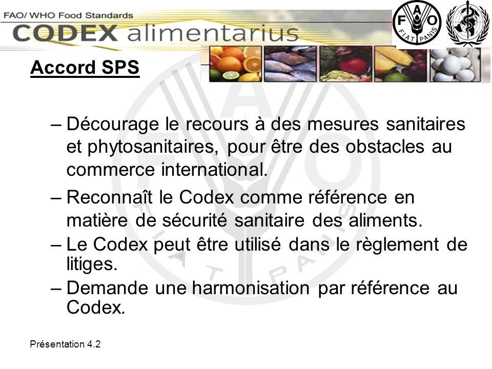 Le Codex peut être utilisé dans le règlement de litiges.