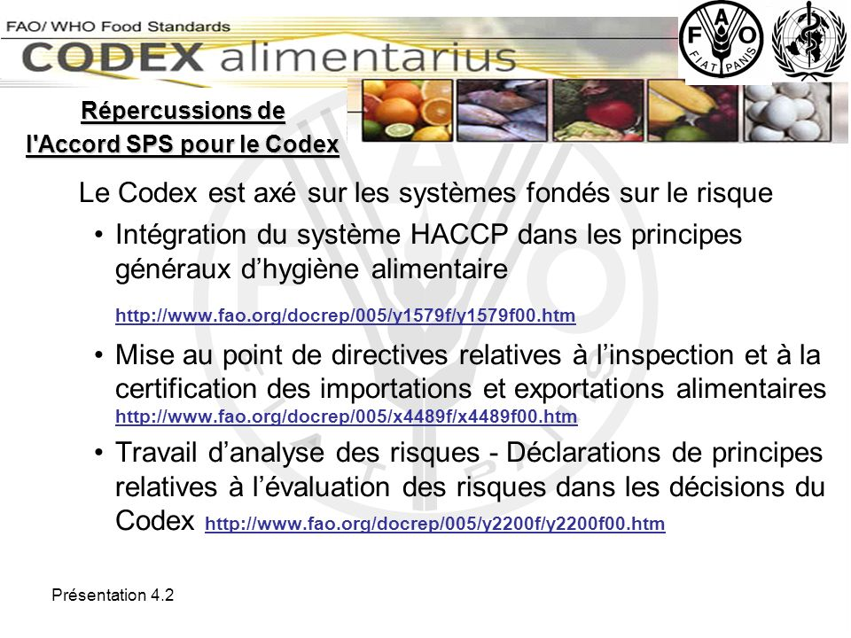 l Accord SPS pour le Codex