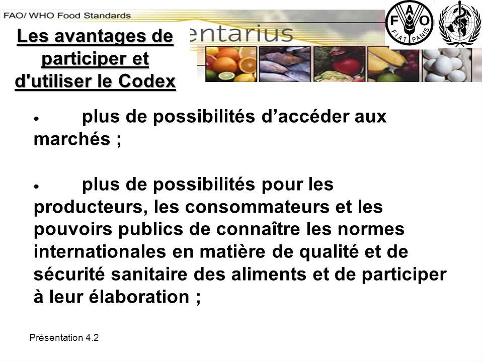 Les avantages de participer et d utiliser le Codex