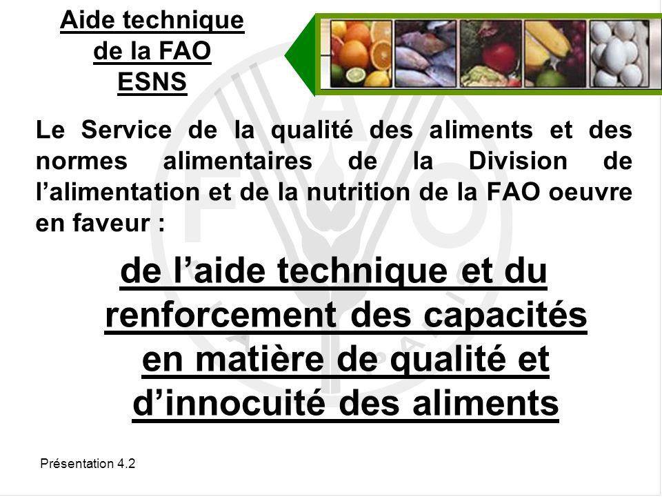 Aide technique de la FAO ESNS