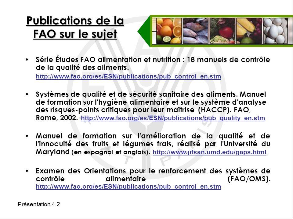 Publications de la FAO sur le sujet