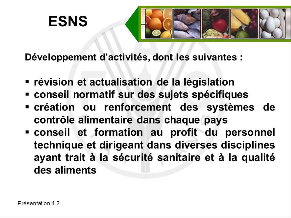 ESNS révision et actualisation de la législation