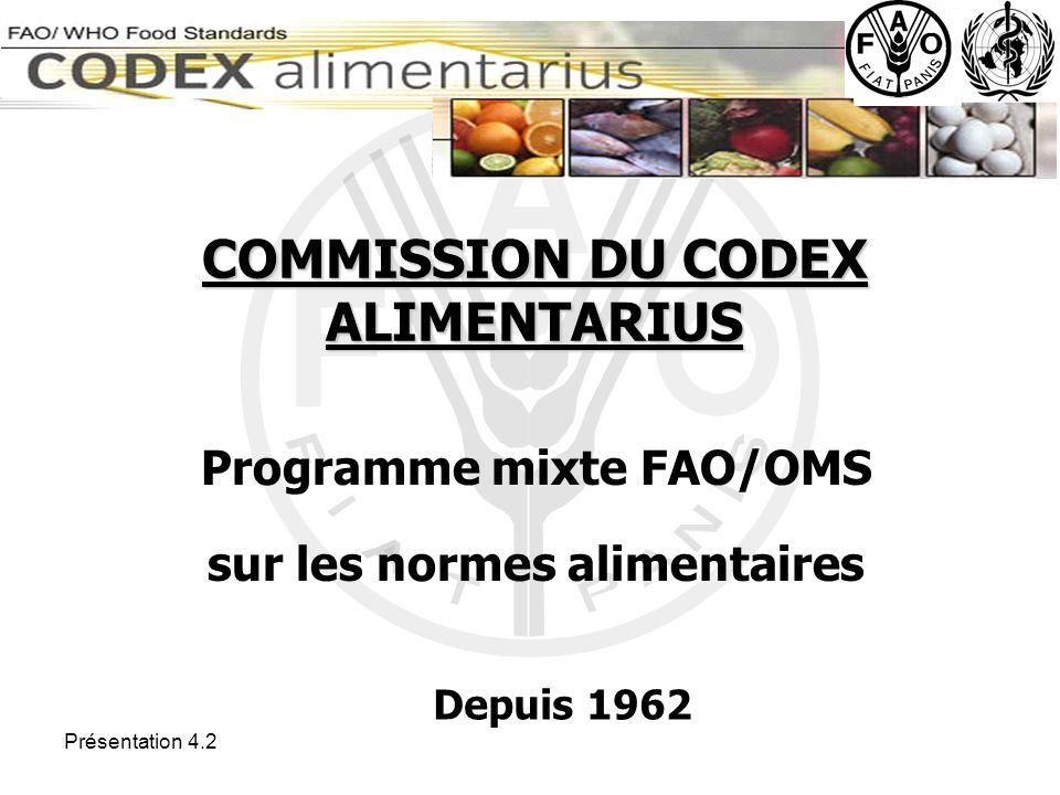 COMMISSION DU CODEX ALIMENTARIUS