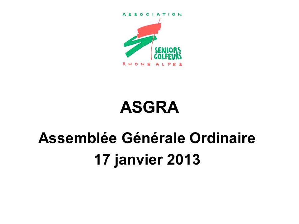 Assemblée Générale Ordinaire 17 janvier 2013