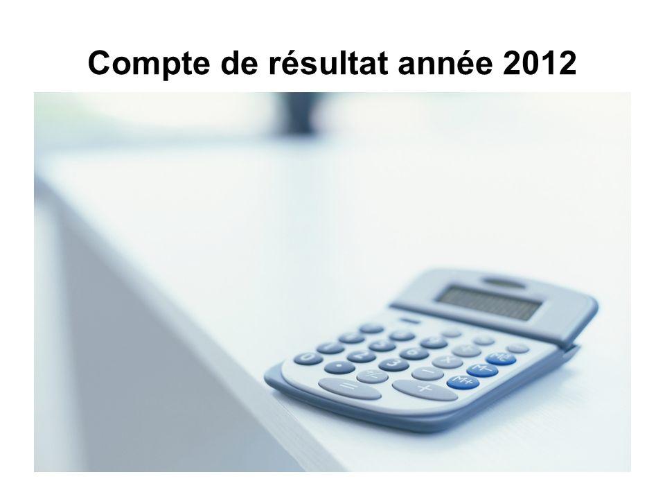 Compte de résultat année 2012