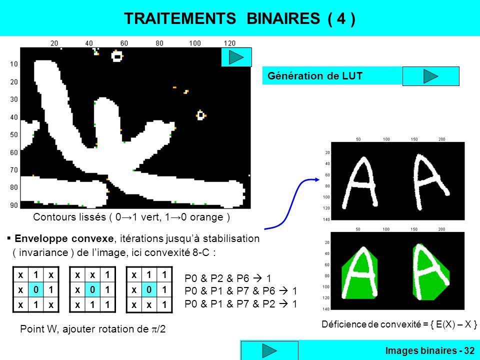 TRAITEMENTS BINAIRES ( 4 )